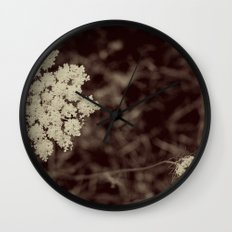 Lace Black and White Flower Wall Clock