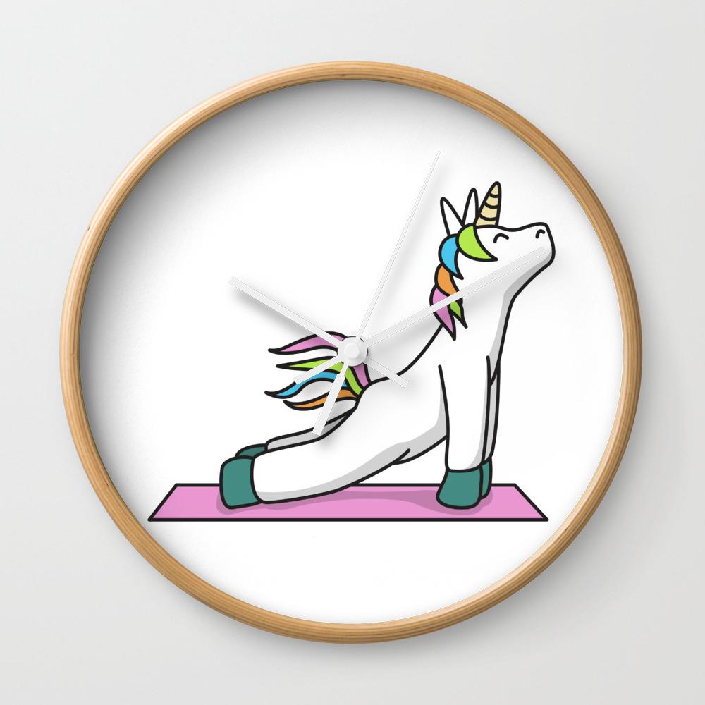 Yoga Unicorn Fitness Gift Idea Meditation Sports Wall Clock by franja2