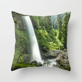 Looking Out From Under North Falls Throw Pillow