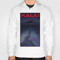 kaiju Hoodies featuring kaiju by tama-durden