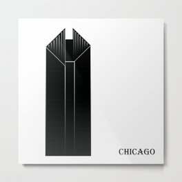Chicago 2W Metal Print