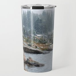 Mid-Summer Snowfall in the Beartooth Mountains Travel Mug