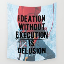 Motivational - Execute is key! Wall Tapestry