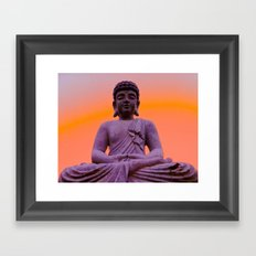 Sundown Buddha Framed Art Print