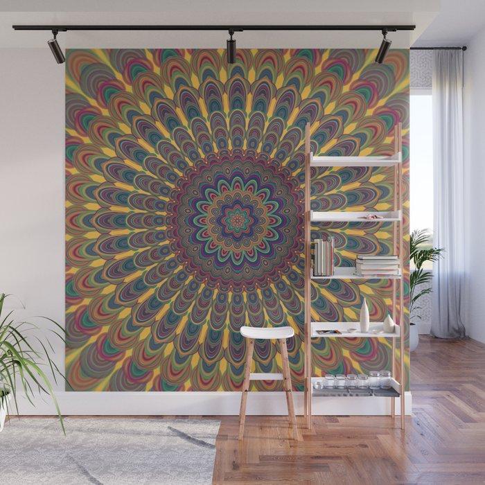 Bohemian Oval Mandala Wall Mural