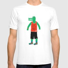 Alligator wants to play Mens Fitted Tee White MEDIUM
