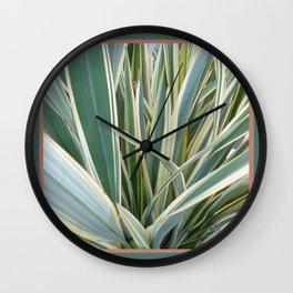 Ornamental Variegated Grass Wall Clock