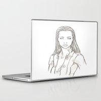 saga Laptop & iPad Skins featuring DarkLife Saga Characters: Val Bust by Ronnie Massey