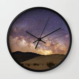 Dunes under the Milky Way Wall Clock