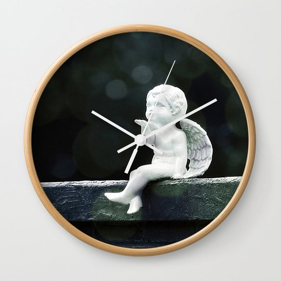 Watching Over Them Wall Clock