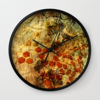 bees Wall Clocks featuring Bees by See No Evil