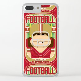 American Football Red and Gold - Hail-Mary Blitzsacker - June version Clear iPhone Case