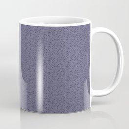 Midnight Lilac Metallic Dots Coffee Mug