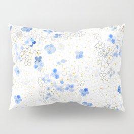 blue abstract hydrangea pattern Pillow Sham