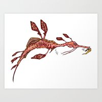 sea horse Art Prints featuring Sea Horse by Jonathan Gehrke