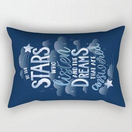 Night Court Book Quote ACOTAR Rectangular Pillow
