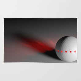 White sphere with red lights - 3D rendering Rug