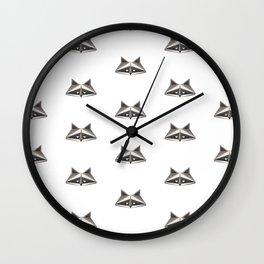 Raccoon Minimalist Pattern Wall Clock