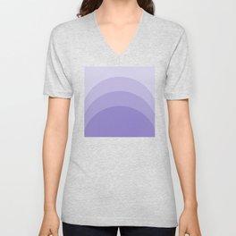Four Shades of Lavender Curved Unisex V-Neck