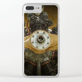 Airplane Propeller of a Fairchild PT-23 Cornell Monoplane Clear iPhone Case