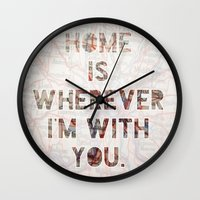 ohio Wall Clocks featuring HOME (Ohio) by Madison Daniels