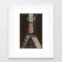 alien Framed Art Prints featuring Alien by JAGraphic