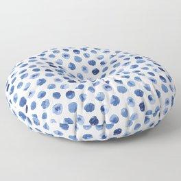 Watercolor Polka Dot Floor Pillow