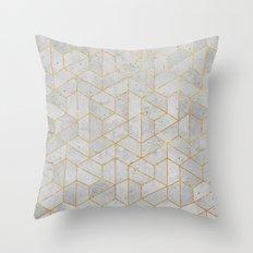Concrete Hexagonal Pattern Throw Pillow