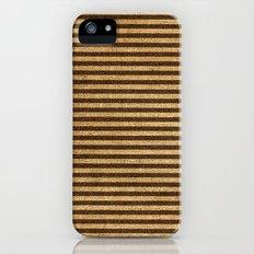 Striped Burlap iPhone (5, 5s) Slim Case