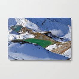 Tongariro lake view 2 Metal Print