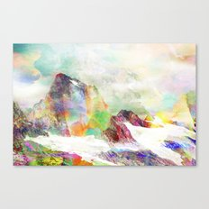 Glitch Mountain Canvas Print