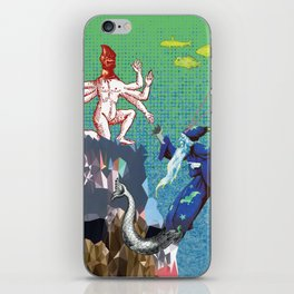 Water Wizard and Monster Man iPhone Skin