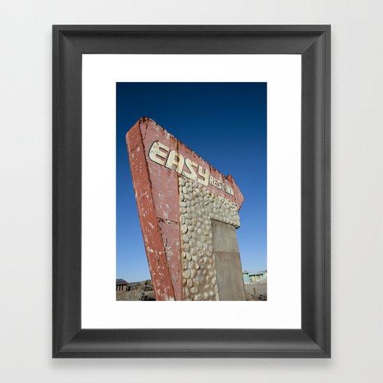Easy Rest-Inn Framed Art Print