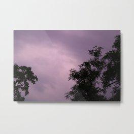 purple clouds Metal Print
