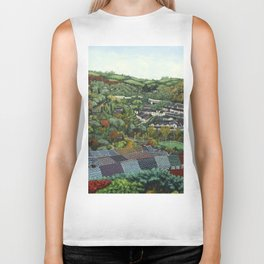 Pontypridd (featuring Sardis Road Rugby Ground) Biker Tank