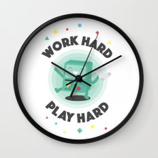 Work Hard, Play BMO Wall Clock