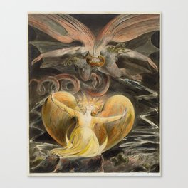 William Blake - The Great Red Dragon and the Woman Clothed with the Sun Canvas Print