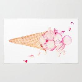 Pink Macaroons Rose Ice Cream Fashion Stylish Minimalism Food Rug