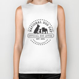 Official Dog Lover; National Dog Day  Biker Tank