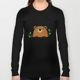Adorable Groundhog Pattern Long Sleeve T-shirt