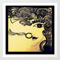 india Art Prints featuring India by Akinawa