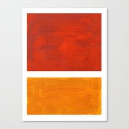Burnt Orange Yellow Ochre Mid Century Modern Abstract Minimalist Rothko Color Field Squares Canvas Print