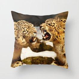 Snow Leopards Throw Pillow