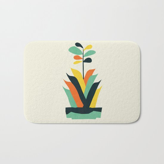 Exotic geometric plant Bath Mat