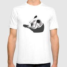 Panda White Mens Fitted Tee MEDIUM