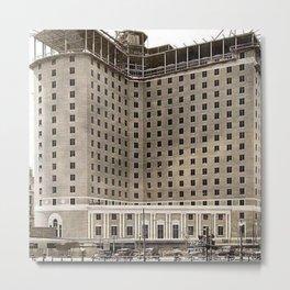 Biltmore Hotel Construction, Providence, Rhode Island 1922 Photograph Metal Print