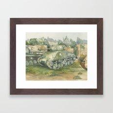 Sherman Tank Framed Art Print