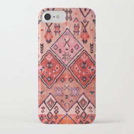 N52 - Pink & Orange Antique Oriental Traditional Moroccan Style Artwork iPhone Case