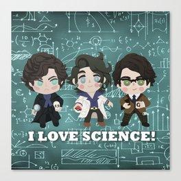 I love Science Canvas Print