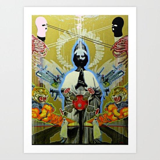 """KEEP U.S. SAFE"" Art Print"